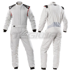 OMP FIRST-S RACE SUIT - Silver - 60 - CLEARANCE