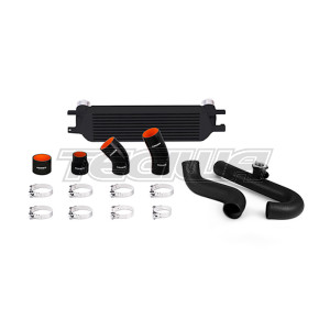Mishimoto Intercooler Kit Ford Mustang EcoBoost 15+ Black with Wrinkle Black Pipes