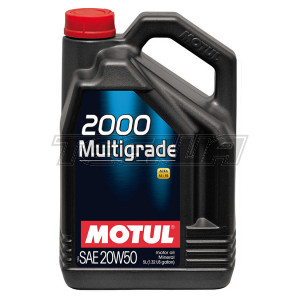 MOTUL 2000 MULTIGRADE 20W50 MINERAL ENGINE OIL