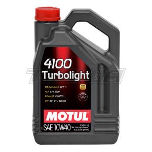 MOTUL 4100 TURBOLIGHT 10W40 TECHNOSYNTHESE ENGINE OIL
