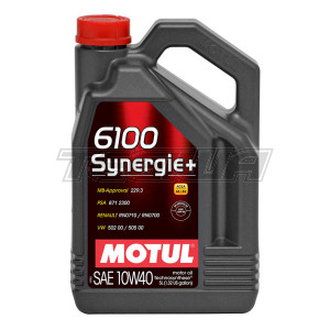 MOTUL 6100 SYNERGIE+ 10W40 TECHNOSYNTHESE ENGINE OIL 1 LITRE NO FILTER
