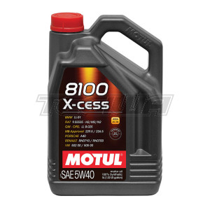 MOTUL 8100 X-CESS 5W40 SYNTHETIC ENGINE OIL 1 LITRE NO FILTER