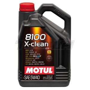 MOTUL 8100 X-CLEAN 5W40 SYNTHETIC ENGINE OIL 1 LITRE NO FILTER