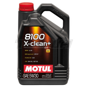 MOTUL 8100 X-CLEAN+ 5W30 SYNTHETIC ENGINE OIL 1 LITRE NO FILTER