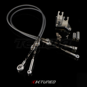 K-Tuned Shifter Cables - Race-Spec Shifter Cables B-Series AWD with bracket