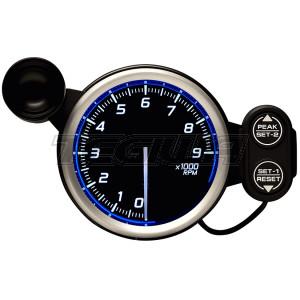 DEFI 80MM RACER TACHO/RPM GAUGES N2 BLUE