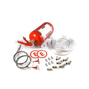 RRS ECOFIREX FIA Mechanical Fire Extinguisher 4.25L Complete Kit