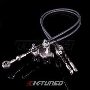 K-Tuned Race-Spec Shifter Cables with Trans Bracket- K24Z7 Transmission/RSX Type S Selector/RSX Style Shifter