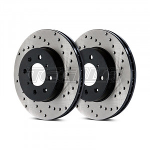 Stoptech Drilled Brake Discs (Front Pair) Mazda MX-5 (NB) 98-01