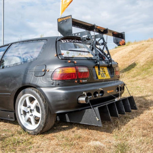 TEGIWA REAR WING SPOILER MOUNTS WITH FIXED STRUT CIVIC EG