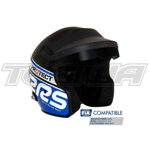RRS Protect Open Face Helmet Fia 8859-2015 Blue and Black