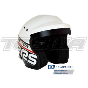 RRS Protect Open Face Helmet Fia 8859-2015 Black and White