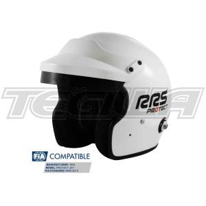 RRS Protect Open Face Helmet Fia 8859-2015 White
