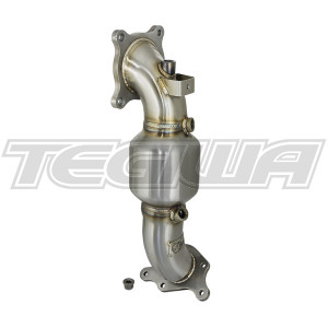 AFE TAKEDA TWISTED STEEL 400CEL CAT DOWN-PIPE STREET SERIES HONDA CIVIC TYPE R 17+