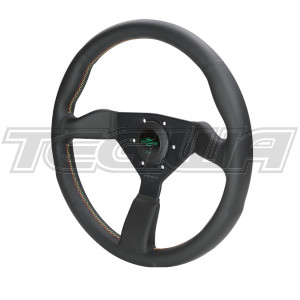 PERSONAL NEO GRINTA SUEDE LEATHER STEERING WHEEL 350MM RED YELLOW GREEN