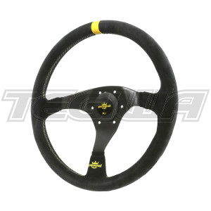 PERSONAL TROPHY SUEDE LEATHER STEERING WHEEL 350MM