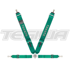 TAKATA RACE 4 4 POINT HARNESS BOLT-ON GREEN