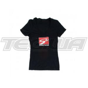 SKUNK2 RACETRACK LADIES V-NECK