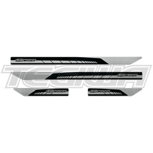 MUGEN DOOR SILL TRIM SCUFF PLATE SET HONDA CIVIC TYPE R FK8 17+ BLACK