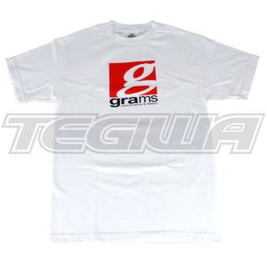GRAMS PERFORMANCE & DESIGN LOGO TEE WHITE - XXL
