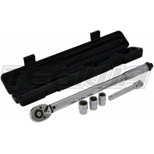 BG Racing 1/2in Drive Adjustable Torque Wrench Set (28Nm-210Nm)