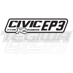 CIVIC EP3 TYPE R OWNERS OFFICIAL STICKER DECAL 6INCH BLACK