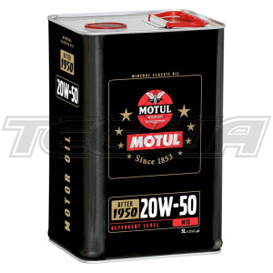 MOTUL 20W50 MINERAL CLASSIC ENGINE OIL 5 LITRES