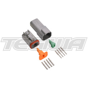 DEUTSCH CONNECTOR KIT DT SERIES 4 WAY ELECTRICAL SEALED CONNECTORS