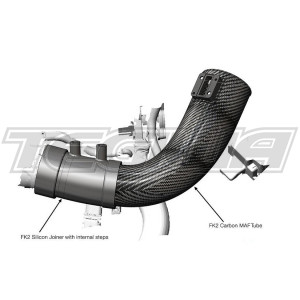 EVENTURI BLACK CARBON INTAKE PIPE HONDA CIVIC TYPE R FK2 15+