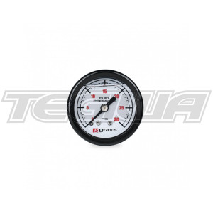 GRAMS 0-30PSI FUEL PRESSURE GAUGE - WHITE FACE