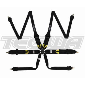 Corbeau Ultima Pro 6 Point Racing Harness H3026 With Pull Up Adjuster