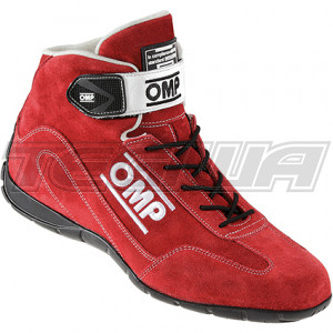 OMP CO-DRIVER BOOTS - SIZE 44 - RED - CLEARANCE