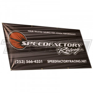 SPEEDFACTORY RACING 3X6 SHOP BANNER WITH GEOMETRIC BACKGROUND