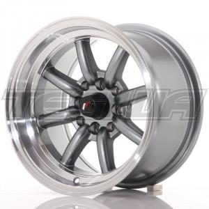 Japan Racing JR19 Alloy Wheel 14x8 - 4x114.3 / 4x100 - ET-13 - Gun Metal