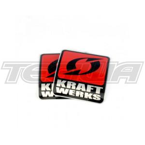 """KRAFTWERKS 2"""" DECAL - SILVER"""