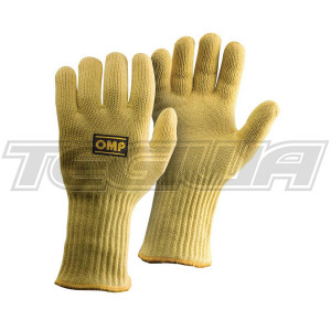 OMP NB/1868  RACING PIT CREW MECHANIC KEVLAR HEAT PROOF LONG GLOVES SIZES S-XL