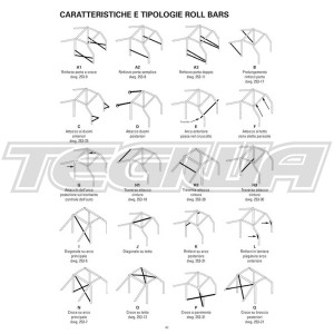 OMP AB/105P/225 ROLL CAGE MAZDA MX-5 (NO ROOF) (NB CHASSIS) 98-05 FIA APPROVED
