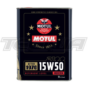 MOTUL 2100 15W50 TECHNOSYNTHESE CLASSIC ENGINE OIL 2 LITRES