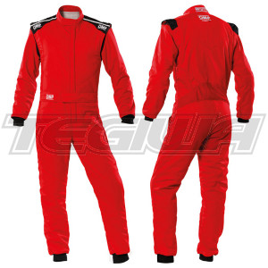 OMP FIRST-S RACE SUIT - Red - 60 - CLEARANCE
