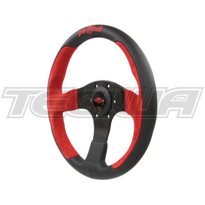 PERSONAL POLE POSITION SUEDE LEATHER STEERING WHEEL 350MM