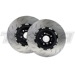 EBC RACING 2 PIECE FLOATING FRONT BRAKE DISCS HONDA CIVIC FK2 FK8 TYPE R 15+