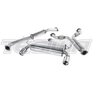 Milltek Cat Back Exhaust Nissan 350Z 3.5 V6 03-10 - RAW / Polished - Dual 100mm Meteor