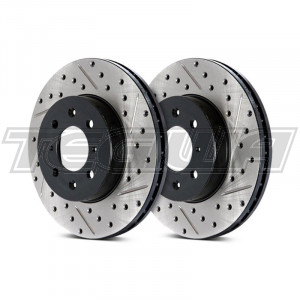 Stoptech Drilled & Slotted Brake Discs (Front Pair) Honda Accord Type-R 99-03