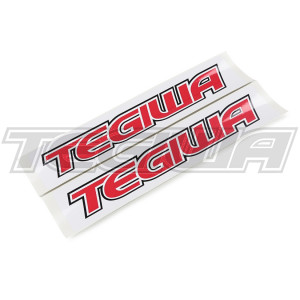 TEGIWA CLASSIC LOGO NUMBER PLATE BLANK STICKERS DECAL RED PAIR