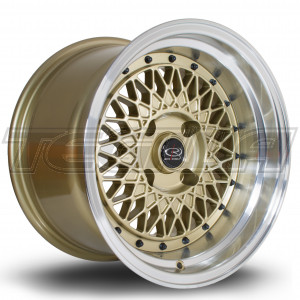 ROTA WIRED ALLOY WHEEL 15 X 9 4X114 ET0 730 POLISHED LIP/GOLD