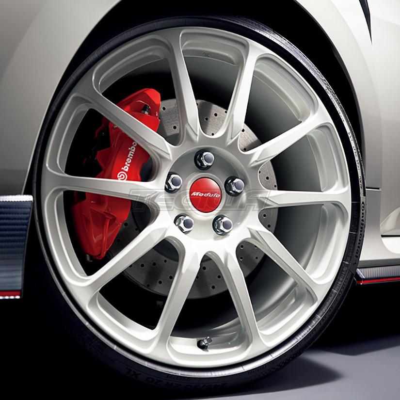 genuine honda jdm modulo  alloy wheel white civic type  fk  tegiwa imports